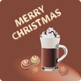 巧克力圣诞节 蓝色云彩图象彩虹天空向量 免版税库存图片