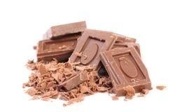 巧克力块和刮。 库存图片