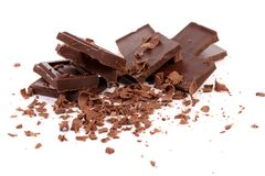 巧克力块和刮 免版税库存图片