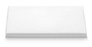 巧克力块白色空白的包裹模板 免版税图库摄影