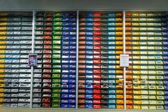 巧克力块销售在雀巢工厂在瑞士 免版税库存图片