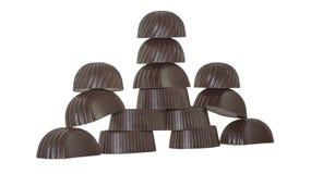 巧克力城堡  免版税库存图片