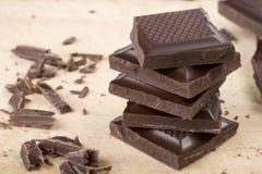 巧克力堆 免版税库存图片