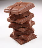 巧克力塔 库存照片
