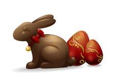 巧克力复活节兔子 向量例证