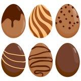 巧克力复活节彩蛋 免版税库存图片