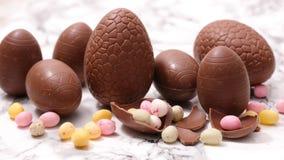 巧克力复活节彩蛋 免版税库存照片