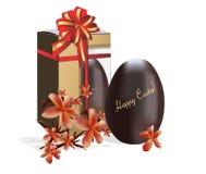巧克力复活节彩蛋 皇族释放例证
