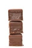 巧克力多维数据集前面塔视图 免版税库存图片