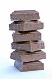 巧克力多维数据集 免版税库存图片