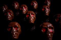 巧克力头骨 免版税库存照片