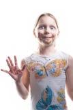 巧克力女孩一点 免版税库存图片