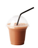 巧克力奶昔采取 免版税库存照片