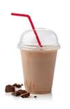 巧克力奶昔 免版税库存照片