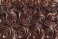 巧克力奶油漩涡背景 免版税库存图片