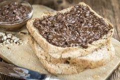 巧克力奶油色三明治 库存图片