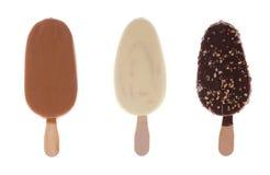 巧克力奶油色冰集 免版税图库摄影