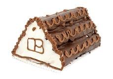 巧克力奶油色冰饼 库存照片