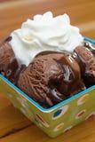 巧克力奶油色冰 库存图片