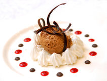 巧克力奶油色冰 库存照片