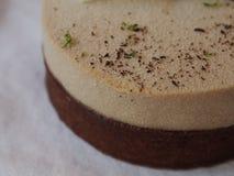 巧克力奶油色层数馅饼 免版税库存图片