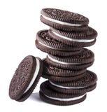 巧克力奶油色曲奇饼 免版税库存图片