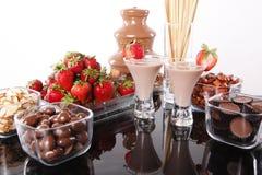 巧克力奶油色酒 库存照片