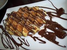 巧克力奶蛋烘饼 库存图片