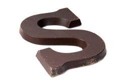 巧克力字母S 免版税图库摄影