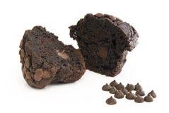 巧克力对分松饼 免版税库存照片