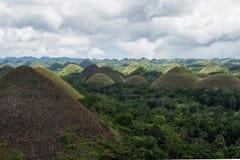 巧克力小山在老挝 免版税库存照片