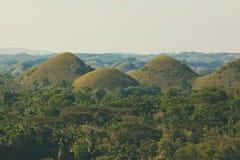 巧克力小山的看法在保和省, Pilippines 免版税库存图片