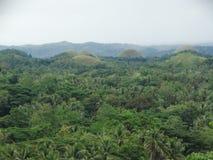 巧克力小山, Bohol海岛,菲律宾 免版税库存照片