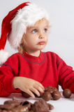 巧克力小的圣诞老人 免版税库存图片