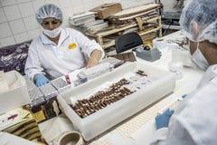 巧克力工厂 免版税库存照片