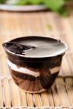 巧克力布丁 免版税库存图片