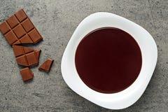 巧克力布丁 库存照片