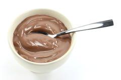 巧克力布丁04 免版税库存照片