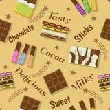 巧克力庆祝设计 免版税库存照片
