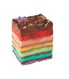 巧克力彩虹蛋糕 库存图片