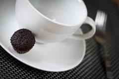 巧克力微型松饼 免版税库存图片