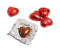 巧克力心脏糖果 图库摄影