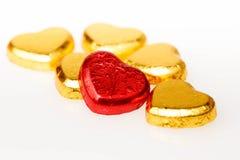 巧克力心脏糖果 库存照片
