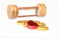 巧克力心脏糖果 免版税库存照片