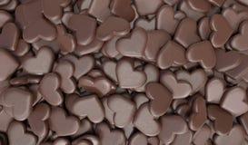 巧克力心脏背景 免版税图库摄影