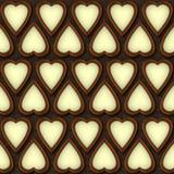 巧克力心脏 免版税库存照片