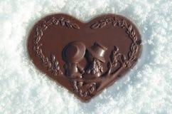 巧克力心脏 库存照片
