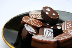 巧克力恋人 免版税库存照片