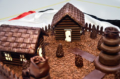 巧克力房子 库存图片