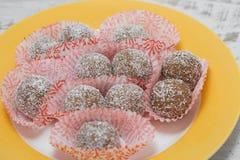 巧克力手工制造甜点 图库摄影